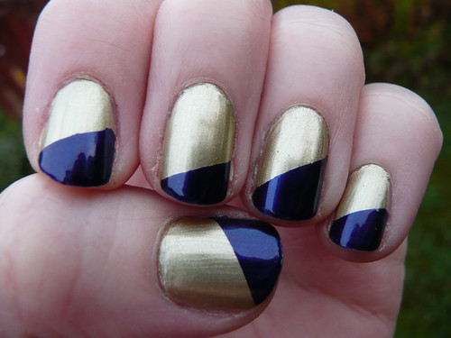 gold blue diagonal french 3