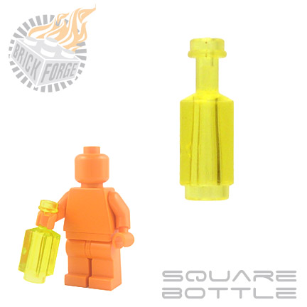 Square Bottle - Trans Yellow