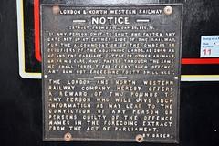 Railway Warning Sign (Stuart Axe) Tags: signs sign train warning victorian rail railway trains railways edwardian lnwr railwayana
