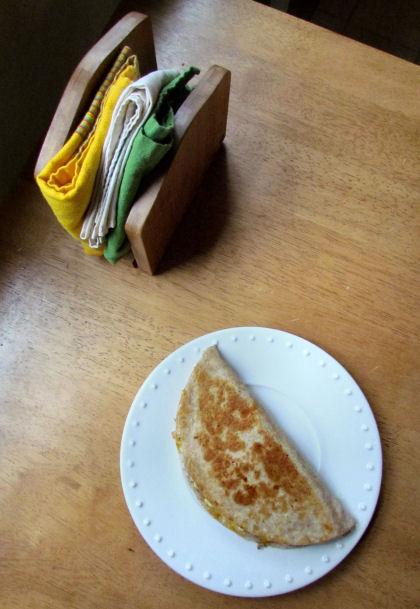 Breakfast Quesadillas from the Top