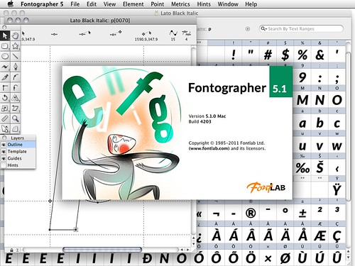 Lato in Fontographer 5.1