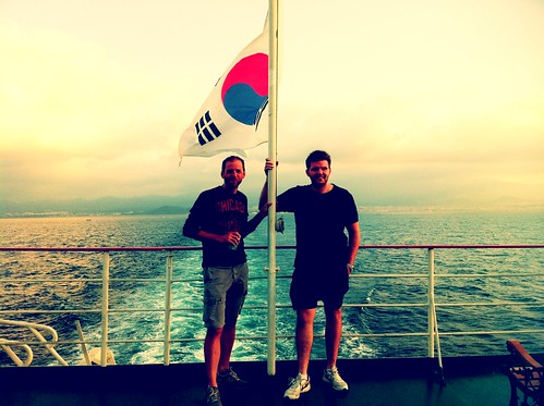 Sean and Andy- ferry to Mokpo