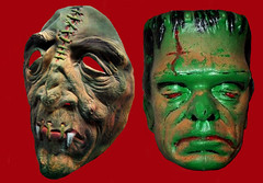 Mutant Frankenstein Monster Masks 4677 (Brechtbug) Tags: shadow portrait holiday man green film halloween face its souls monster 1931 vintage movie toy lost toys island skull james costume outfit scary moody shadows mask ben zombie mary evil screen stereo masks frankenstein hollywood cooper speaker horror terror demon devil undead whale monsters mutant alive collectible skeletons shelley patchwork grab creature transylvania vamp fright collectable cadaver collegeville 2011 frankensteins