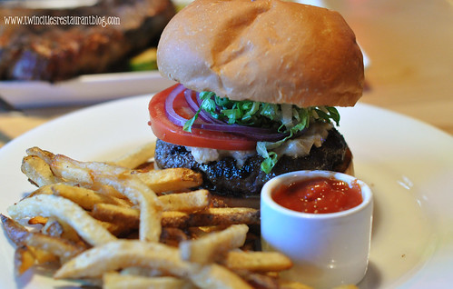The MN Wild Game Burger at The Hanger Room ~ Willernie, MN