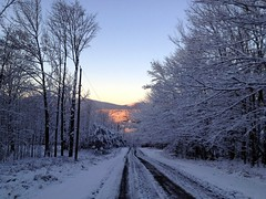 First snow in Lexington, NY 2011