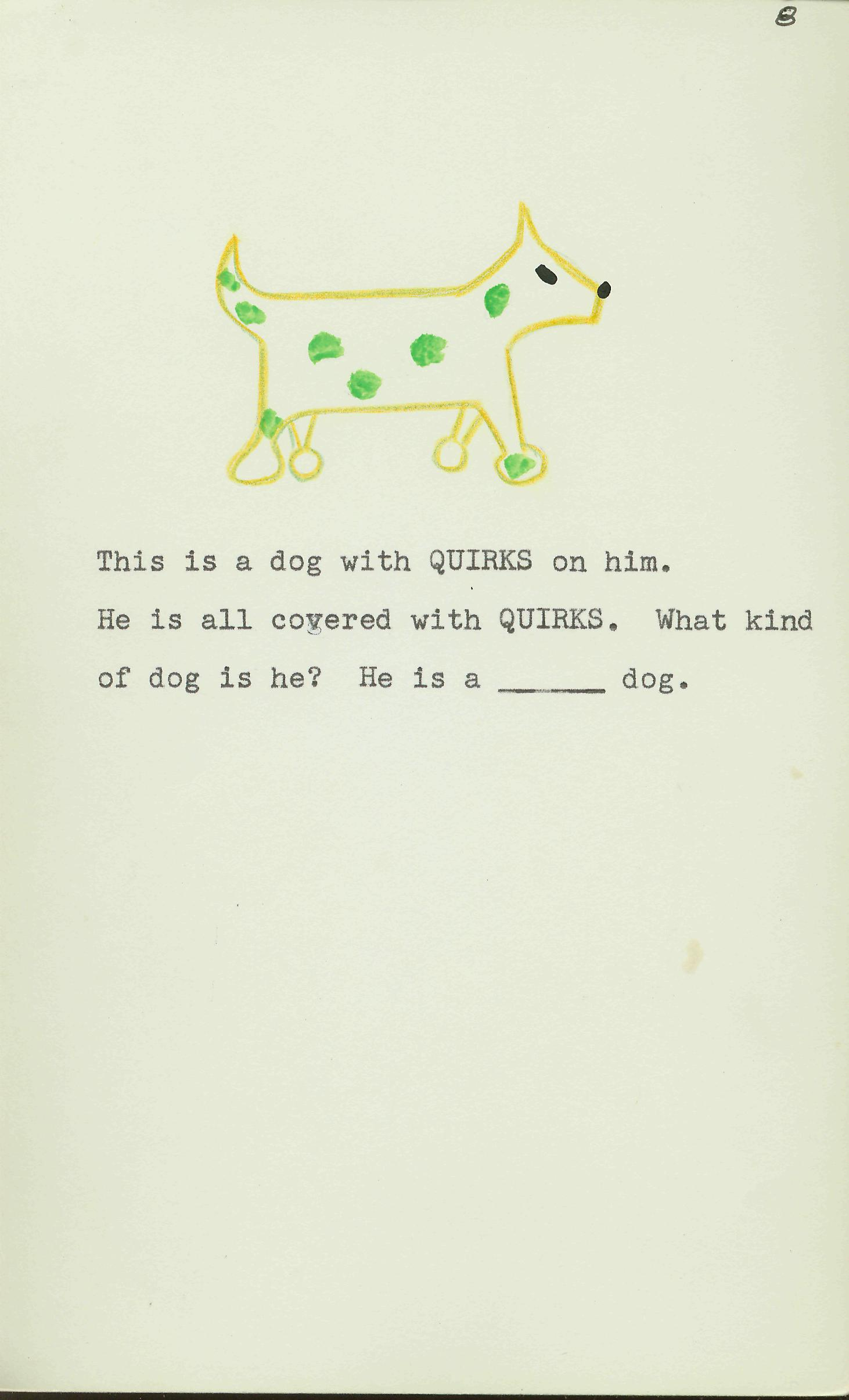 wug test - image 8 - this is a dog with quirks