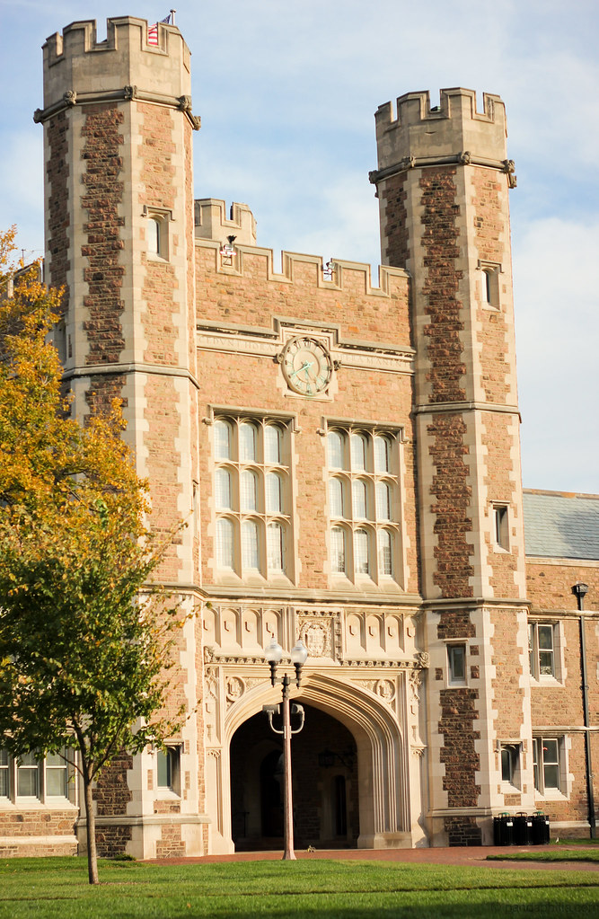 brookings hall at the golden hour