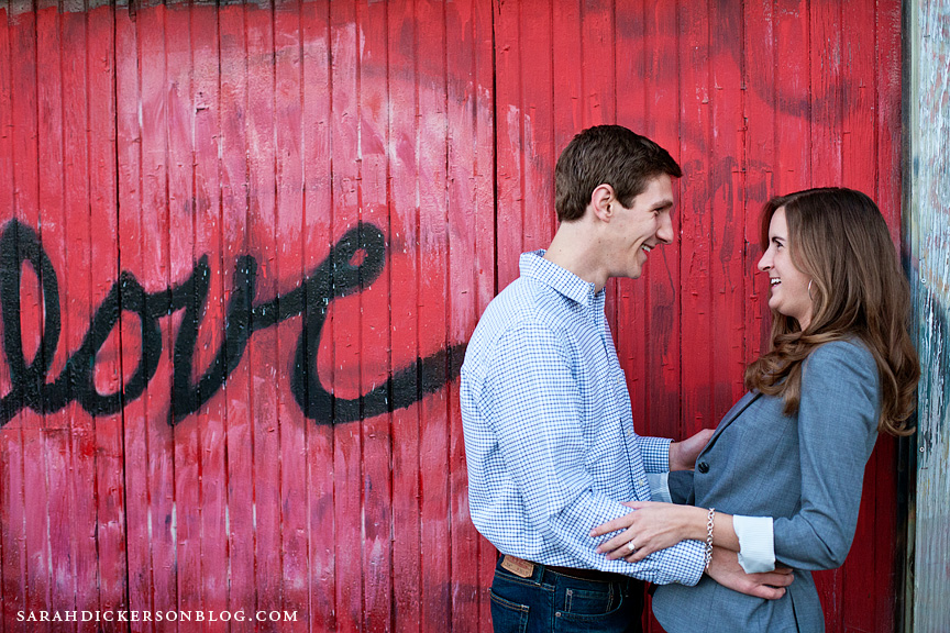 University of Kansas Lawrence engagement photos