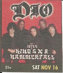 11-16-02 Dio @ Las Vegas, NV