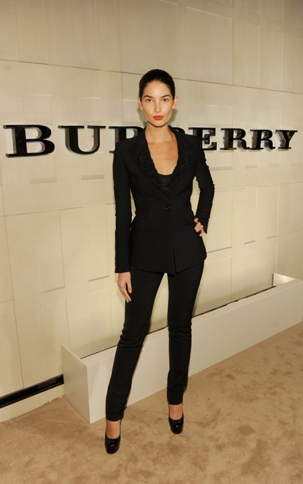 5 Lily Aldridge in Burberry at the Burberry Body event in LA