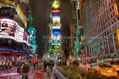 Times Square at Night (cholmesphoto) Tags: city nyc newyorkcity usa ny newyork wet night america us cityscape unitedstates manhattan unitedstatesofamerica timessquare northamerica empirestate bigapple urbanlandscape