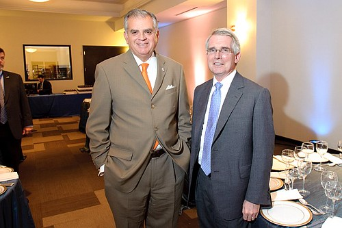 U.S. Transportation Secretary Raymond LaHood & Norfolk Southern CEO Wick Moorman
