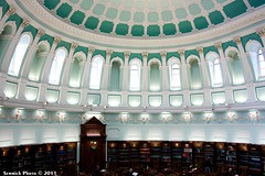 National Library of Ireland (Semmick Photo) Tags: ireland history reading quiet interior library room books ceiling research national silence readingroom nationallibraryofireland semmickphoto semmick wwwsemmickphotocom