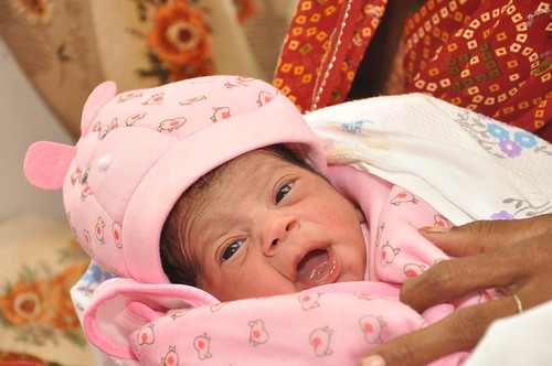 Baby Nargis, the 7 billionth person born in the world