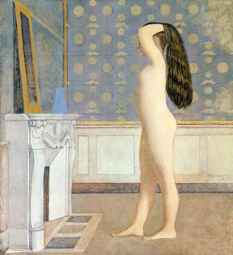 Balthus - Nude Before a Mirror [1955] by Gandalf's Gallery