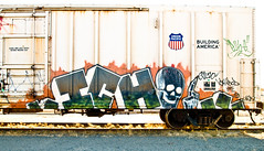 Ich (TheHarshTruthOfTheCameraEye) Tags: california train graffiti yme northern ich freight ichabod benching
