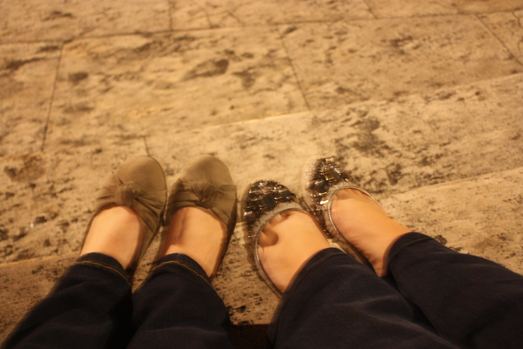 Our feet on the Spanish Stairs