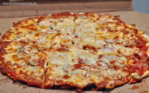 Pepperoni, Mushroom and Shrimp Pizza at Willwood Pizza ~ Willernie, MN