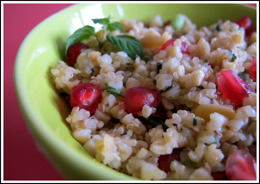 Quinoa and Bulgur Salad with Pomegranate