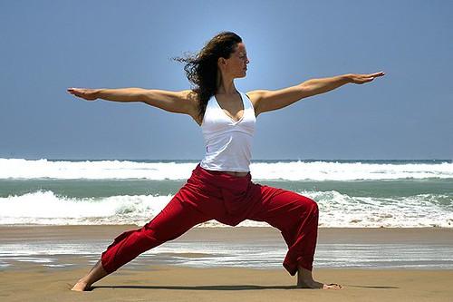 Ibiza yoga: Warrior pose