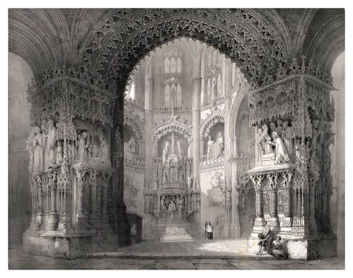 008-Capilla del Condestable catedral de Burgos-España artística y monumental.. Tomo I-1842-1850-Genaro Perez de Villa-Amil