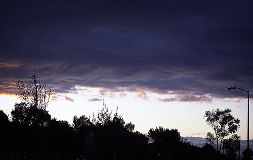 Rain Clouds + Fog  + Sunset