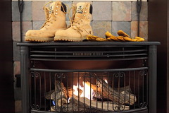 Stove, Boots, and Gloves (wmliu) Tags: boots misc snowstorm gloves stove wmliu powerloss