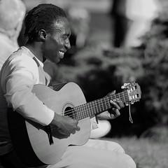 soul (IX) (qmusaget) Tags: portrait blackandwhite bw music paris france blancoynegro noiretblanc candid streetphotography streetportrait noninteractive nonparticipating makeitsquare