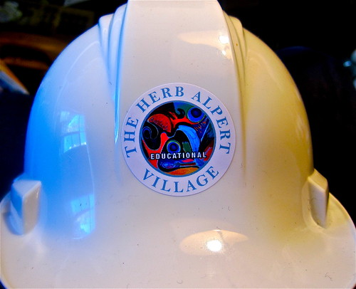 My hardhat at the Alpert village site