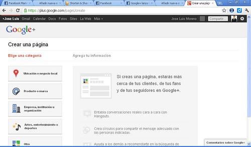 paginas de google plus