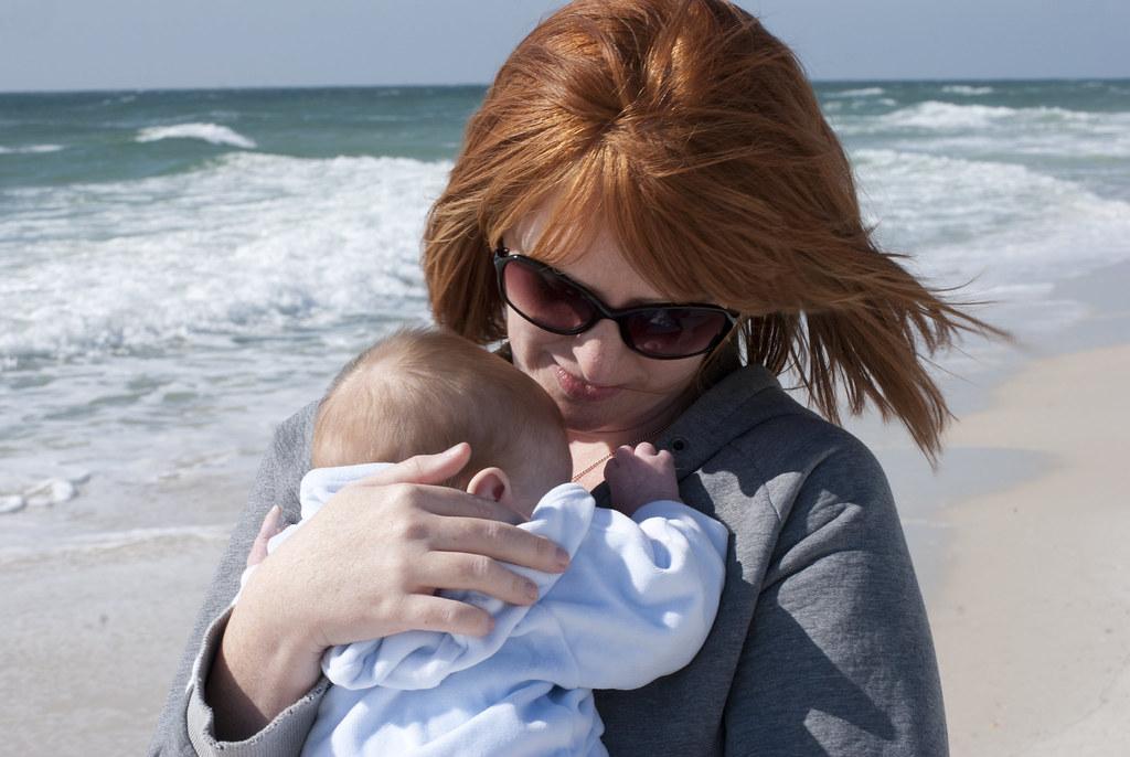 Mama&SawyerOcean
