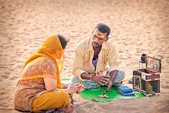 Parrot Astrology (msankar4) Tags: summer beach marina madras tarot future parakeet marinabeach chennai tamilnadu tarotcards greenparakeet parrotastrology kilijoshiyam