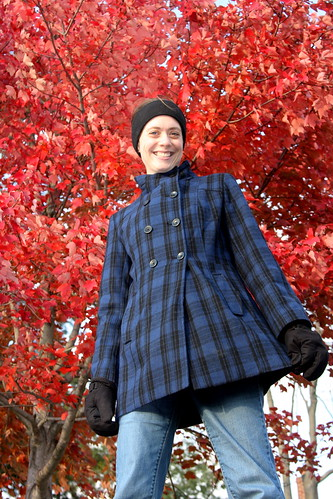 Coat with red tree