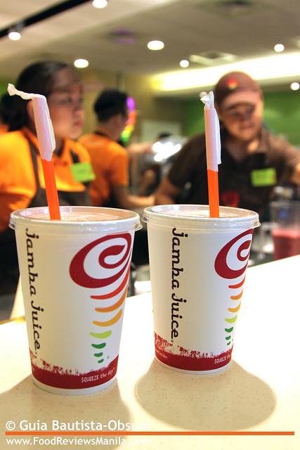 Jamba Juice orders