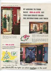 ON A LITE brochure p1 (JeffCarter629) Tags: christmaslights vintagechristmas 1950schristmas peoriachristmas generalelectricchristmas gechristmas onalite