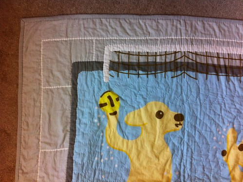 Waterpolo puppies quilt finished