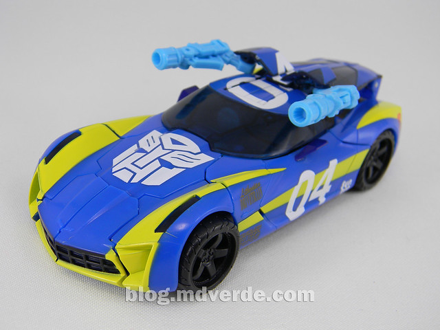 Transformers Sideswipe DotM Deluxe Walmart - modo alterno