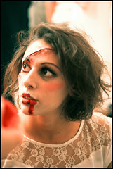 Marti3 (Shyla Lunch) Tags: people milan art halloween blood makeup persone horror pro monsters splatter artworks artista maschere ragazzi mostri orrore trucco makeupartist 2011 31october giornodeimorti valentinanarnimancinelli