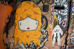 Red head (phluids) Tags: orange streetart streets paper denmark graffiti graf pasted danish rhus 2011