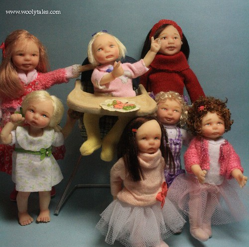 2012 Miniature Dollhouse Children Collection