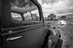 California - Bodie (luca marella) Tags: old travel bw usa west abandoned film car america mono town blackwhite luca village united voigtlander bessa ghost pb bn e states far bianco nero analogic marella marellaluca