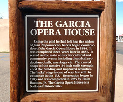 0272 New Mexico, I25, Socorro, The Garcia Opera House Info (Aristotle13) Tags: vacation newmexico plaque us tour info garcia nm operahouse socorro 2011