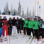 BC Men's Team training in Sun Peaks - posing with Hans Olsson and Jeffrey Frisch