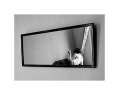 Sola. (lualunera) Tags: portrait girl mirror mujer chica retrato smoke espejo humo tabaco cigarro fdv2012