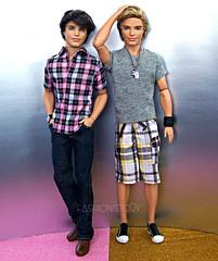 TAGGED: Twin Time (fashionisto2k) Tags: fashion dolls ryan ken barbie cutie clothes jeans mattel articulated sporty fashionistas articulation kenfashionistas
