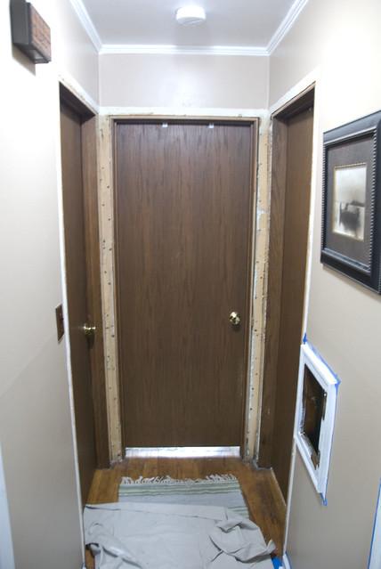 old hallway doors