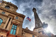 2011 Las Vegas 081 (TVGuy) Tags: morning las vegas sky paris tower flag eiffel strip