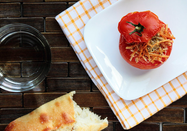 Parmesan Stuffed Tomatoes