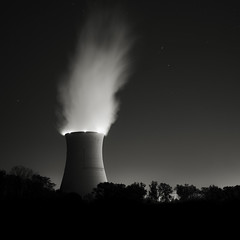 Davis-Besse Nuclear Power Station (Jeff Gaydash) Tags: longexposure blackandwhite night square power nuclear powerplant artifakts