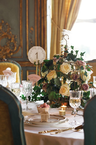 pink wedding table settings Reminiscent of a Charleston Affair